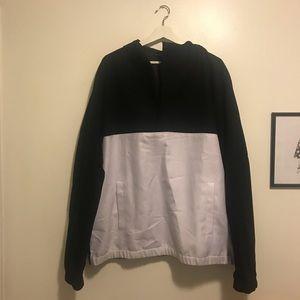 Black and white elwood half zip jacket